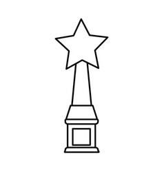 star shape trophy icon image vector image