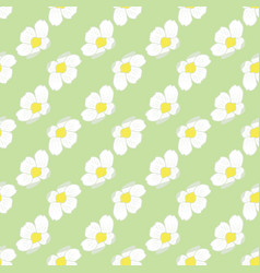 Strawberry blossom seamless floral pattern vector
