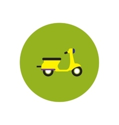 Stylish icon in color circle retro scooter vector