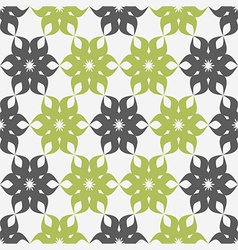 Stylized floral pattern Green and gray flower vector image
