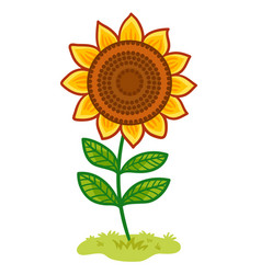 the sunflower is in the clearing vector image