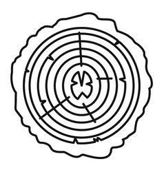 tree rings icon outline style vector image