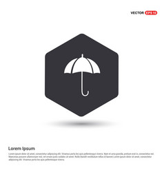 umbrella icon hexa white background icon template vector image
