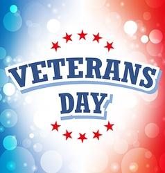 Veterans Day USA banner on celebration background vector