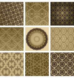 Vintage Floral Pattern Set vector image