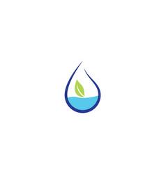 water drop symbol vector image