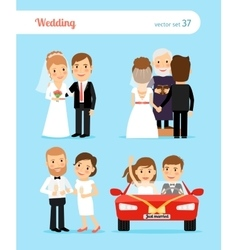 Wedding people vector image