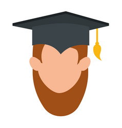 woman student graduated head avatar character vector image