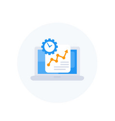 work productivity growth icon vector image