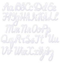 Writing alphabet white vector image vector image