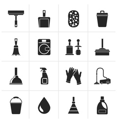 Black Cleaning and hygiene icons vector image vector image