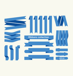 collection of ribbon signs vector image vector image