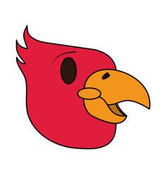 color image cartoon eagle head mascot vector image