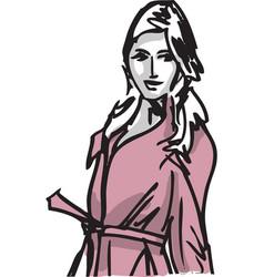 fashion woman vector image