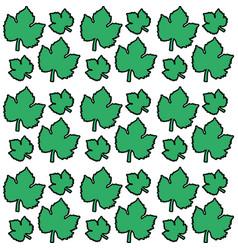 green leaves grape seamless pattern design vector image