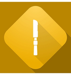 icon of Knife with a long shadow vector image vector image