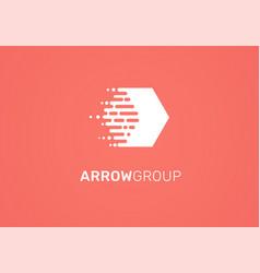 logo - technology arrow tech icon and symbol vector image vector image