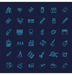 Outline web icon set - drawing tools vector image