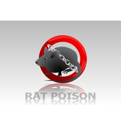 rat poison vector image