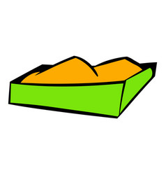 sandbox on a playground icon icon cartoon vector image
