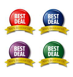 set of colored labels best deal discount tags vector image