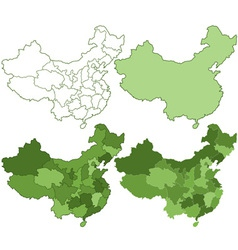 China maps vector image vector image