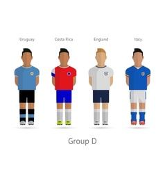 Football teams Group D - Uruguay Costa Rica vector image