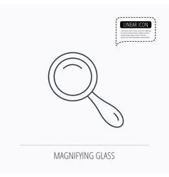 Search icon Magnifying glass sign vector image vector image