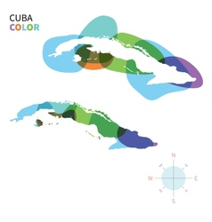 Abstract color map of Cuba vector image vector image
