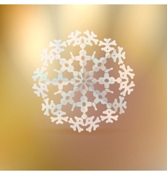Christmas gold background with snowflake vector image