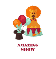 Circus show only tonight promotional poster vector
