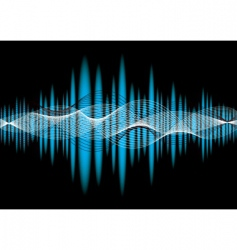 music equaliser wave vector image