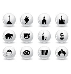 Web buttons russian icons vector image vector image