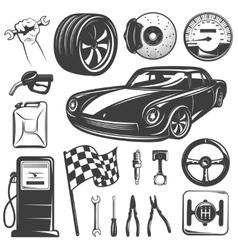 Car Repair Garage Icon Set vector image