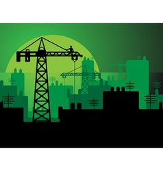 construction in a city vector image vector image