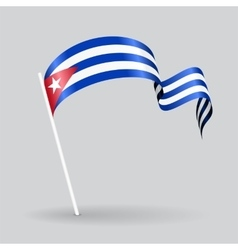 Cuban wavy flag vector image