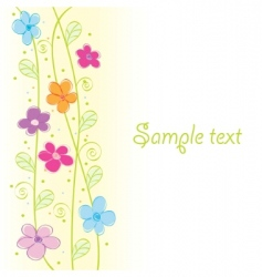 cute floral card vector illustration vector image