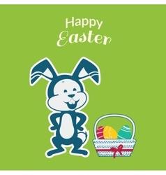 Easter Rabbit Icon Egg Design Flat vector image vector image