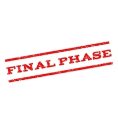 Final phase watermark stamp vector