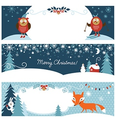 Set of Christmas graphic banners vector image