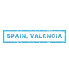 Spain Valencia Rubber Stamp vector image