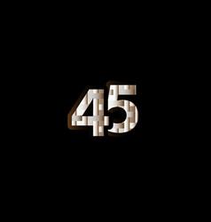 45 years anniversary celebration elegant black vector