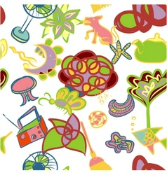 Abstracl seamless pattern background vector image