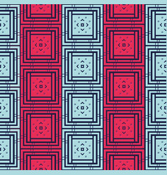 abstract geometric seamless pattern with squares vector image