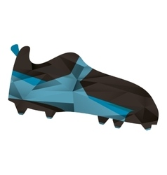 American football boot shoe spiked abstract vector