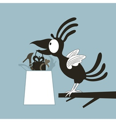 Animation a bird vector