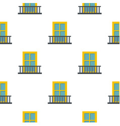 balcony with a yellow window pattern flat vector image