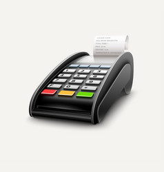 Bank terminal for payments vector