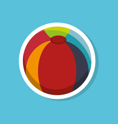 Beach ball toy icon vector