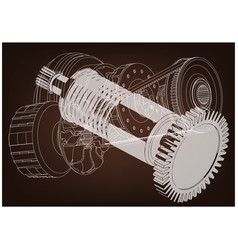 Belt gear vector